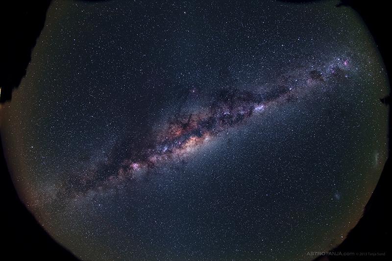 Milky way overhead